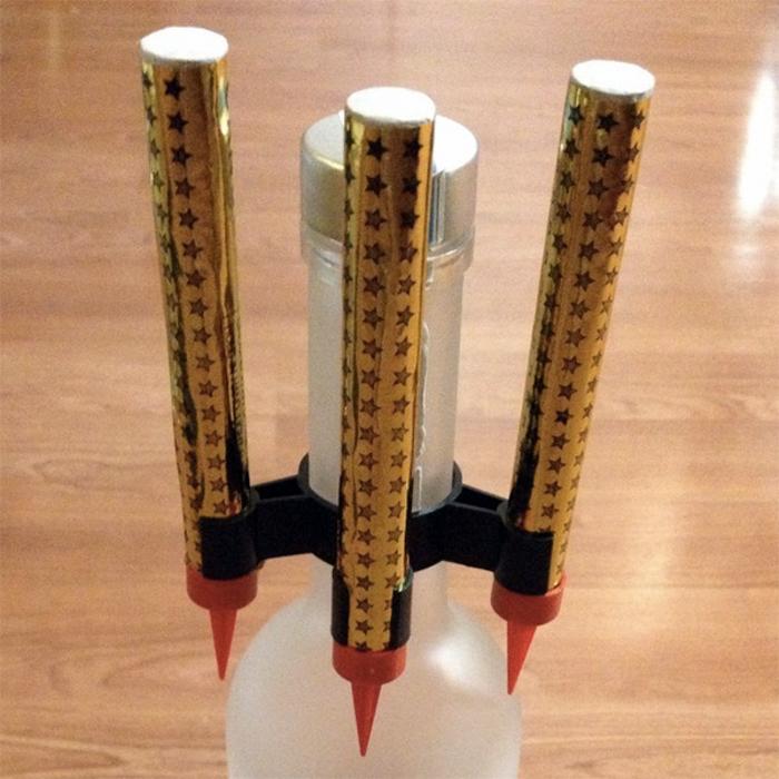 Bottle Sparkler Safety Clip ‰- Triple