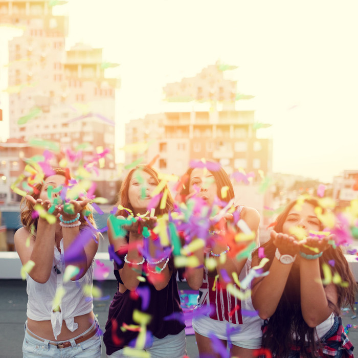 """Confetti Flick Sticks - 14"""" Multicolor"""