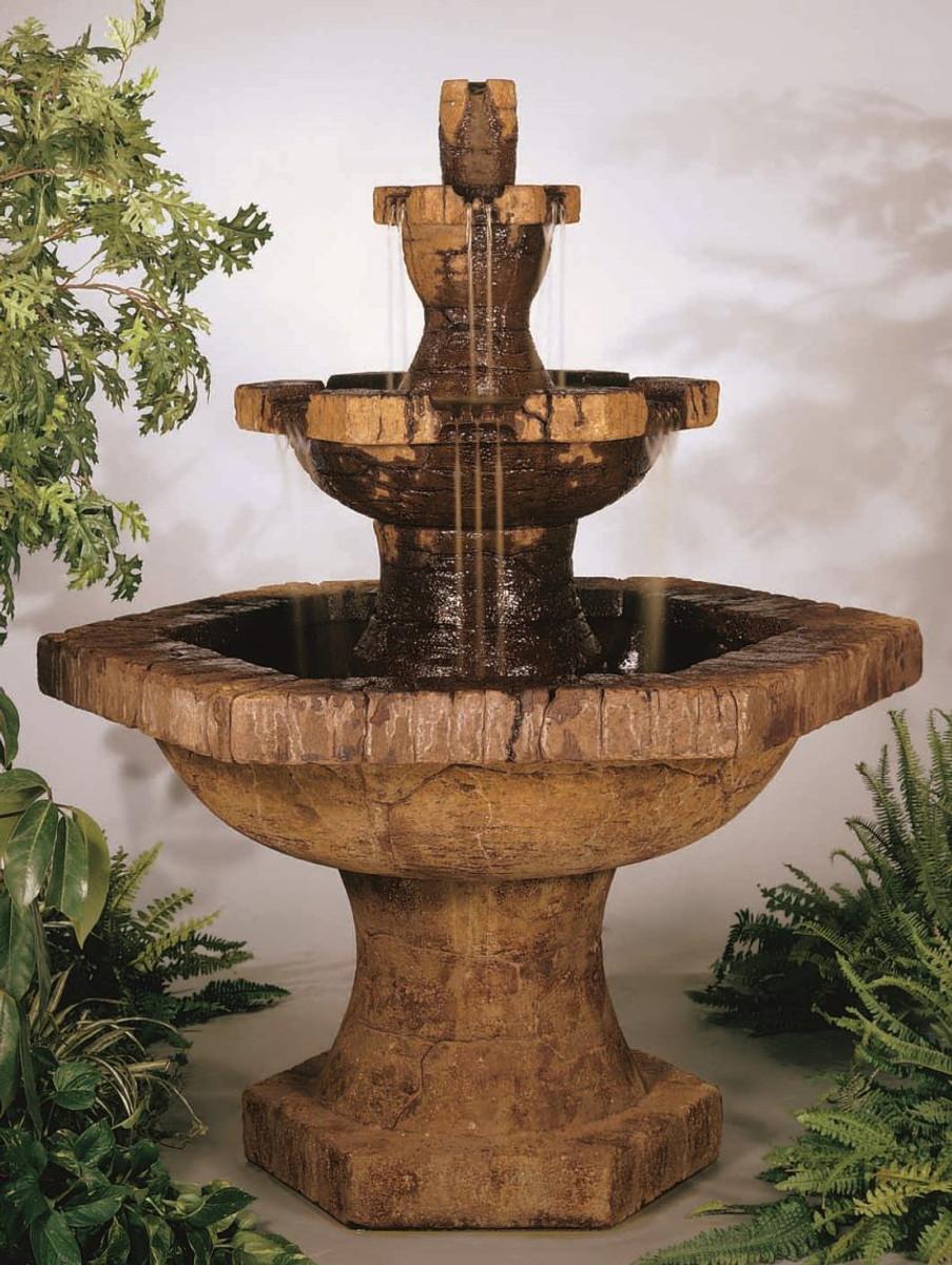 Henri Studio Grenoble 3-Tier Cast Stone Water Fountain