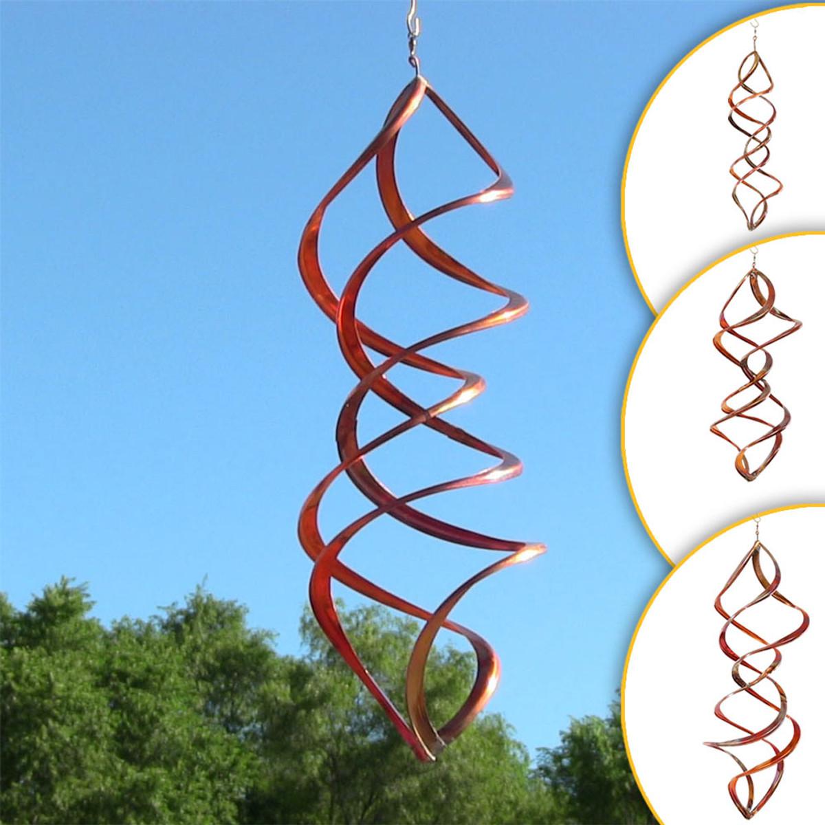 Sunnydaze Vortex Copper Wind Spinner – Outdoor Spinner