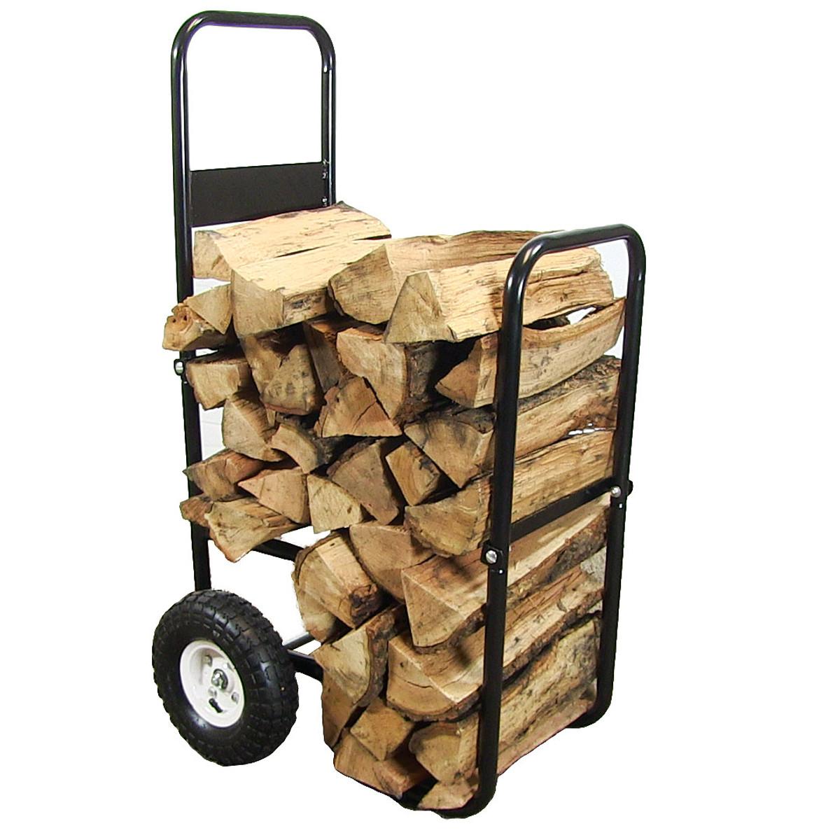 Sunnydaze Firewood Log Cart with Wheels