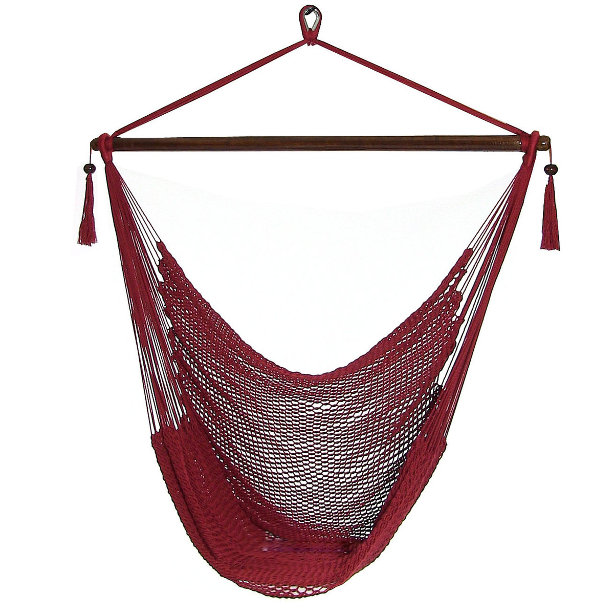 Sunnydaze Caribbean Extra Large Hammock Chair, Soft Spun Polyester Rope, 40  Inch Wide Seat