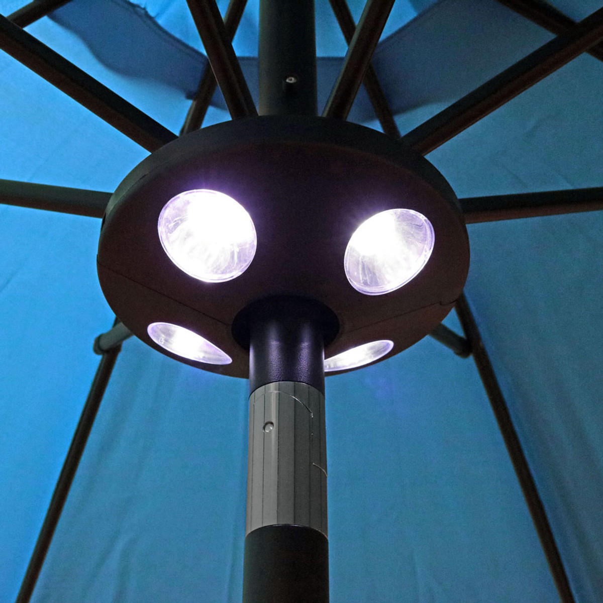 Exceptionnel Sunnydaze Battery Operated Patio Umbrella Pole Light, 4 LED Lights