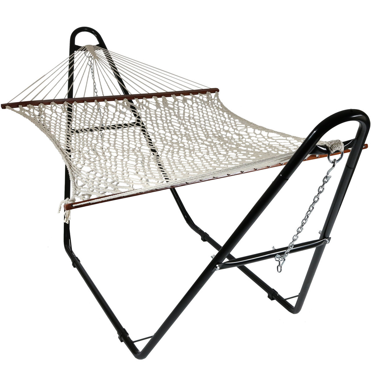 sundale cotton and with outdoor steel stand feet combo daze rope lazy hammock pillow hammocks