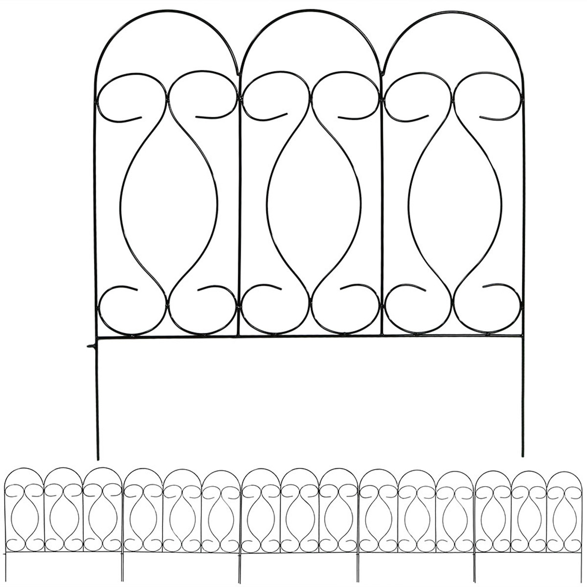 sunnydaze border fence set - 5-piece