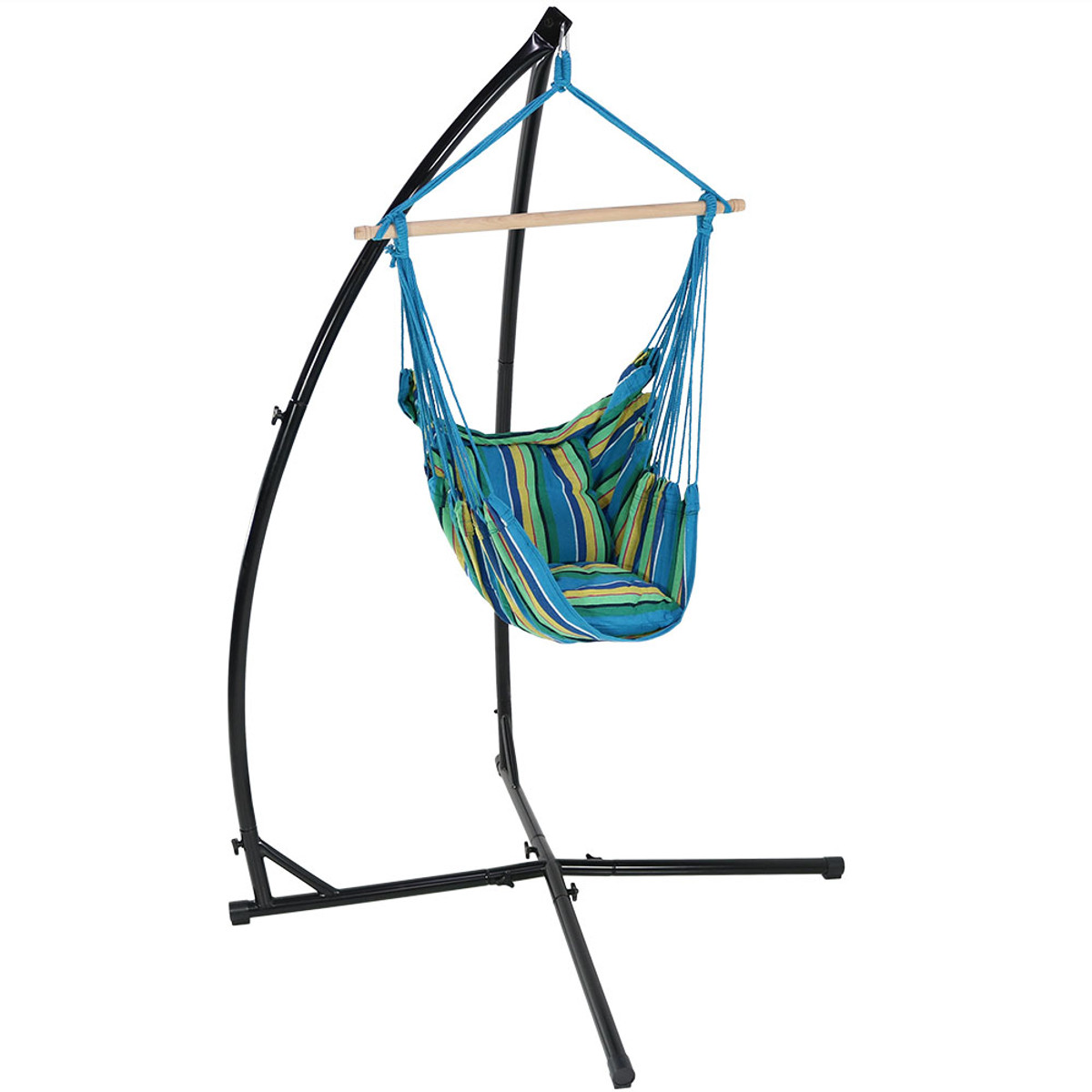 Superbe Sunnydaze Hanging Hammock Chair Swing And X Stand Set, Indoor Or Outdoor  Use, Max Weight: 250 Pounds