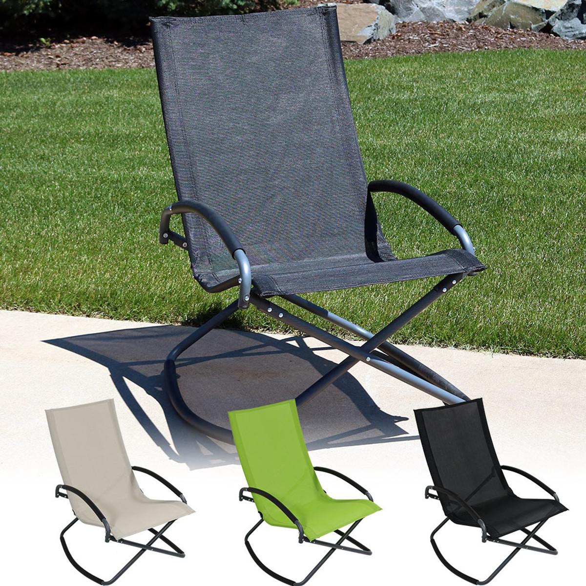 Sunnydaze Folding Rocking Lounge Chair & Sunnydaze Folding Rocking Lounge Chair | Outdoor Living