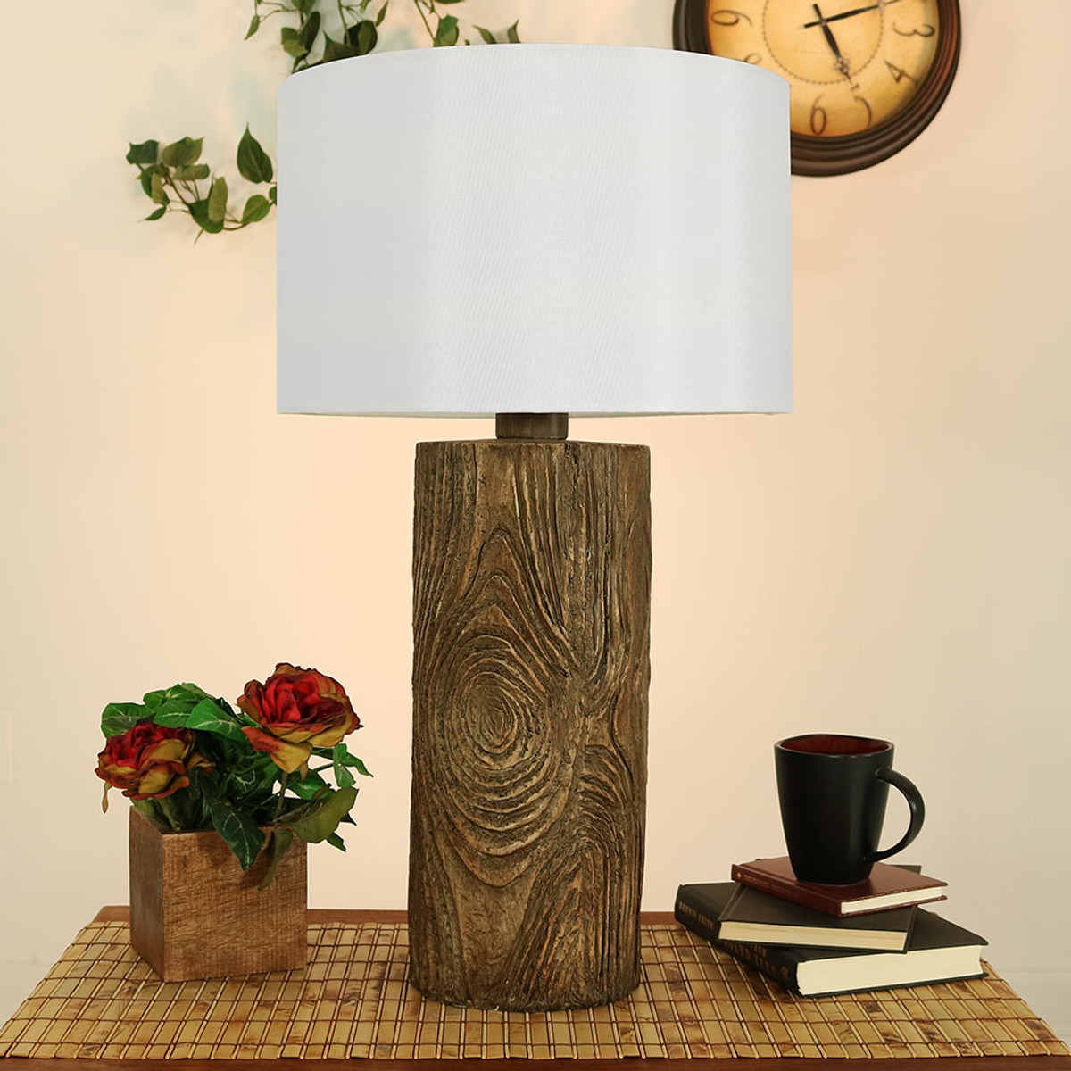 nature inspired lighting. Sunnydaze Indoor/Outdoor Nature-Inspired Log Polyresin Table Lamp, 26 Inch Tall Nature Inspired Lighting