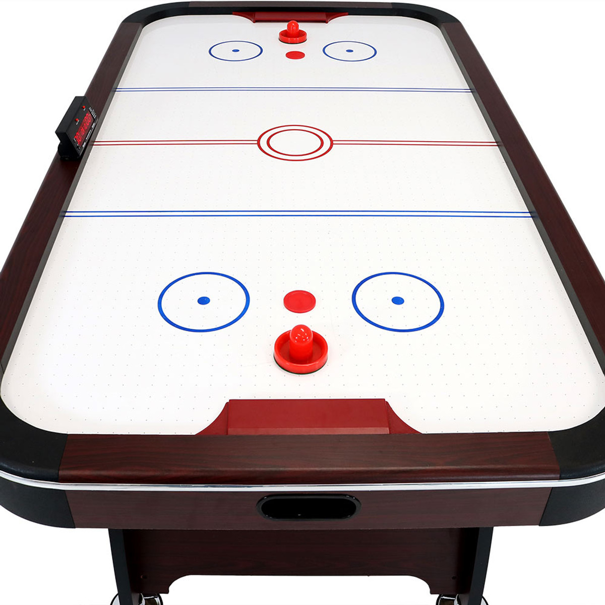 Sunnydaze 7 Foot Air Hockey Table With Scorer