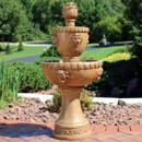 2-Tier Contemporary Lion Outdoor Water Fountain