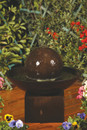 Small Wok Outdoor Fountain with Pedestal
