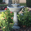 Smart Solar Country Gardens 2-Tier Solar-on-Demand Fountain