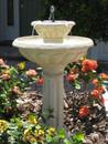 Smart Solar Kensington Gardens 2-Tier Solar-on-Demand Birdbath Fountain