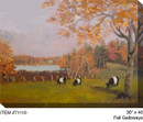 Fall Galloways Canvas Wall Art