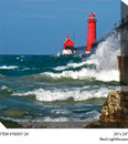 Red Lighthouse Canvas Wall Art