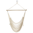 Sunnydaze Cotton Rope Hanging Hammock Chair Swing, 48 Inch Wide Seat, Max Weight: 330 Pounds