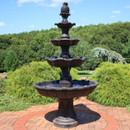 4-Tier Grand Courtyard Outdoor Water Fountain