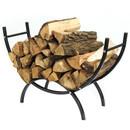 Sunnydaze Indoor/Outdoor Curved Firewood Log Rack