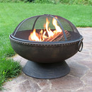 Sunnydaze Royal Firebowl Fire Pit With Handles Screen 30