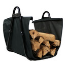 Sunnydaze Canvas Firewood Log Carrier with Handles, Heavy Duty Log Tote and Rack Included