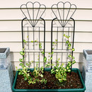 Sunnydaze 32 Inch Flower Design Garden Trellis, Set of 2