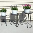 Sunnydaze Modern Indoor/Outdoor Nesting Plant Stands, Set of 3