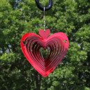 3D Heart Whirligig Wind Spinner