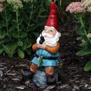 Floyd the Fishing Gnome, 12-Inch Tall by Sunnydaze Decor