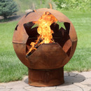 Starry Night Rustic Fire Pit Bowl