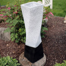 Sunnydaze Spiraling Tower Outdoor Bubbling Water Fountain, 35-Inch