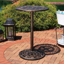 Sunnydaze Round Bar-Height Table, Cast Iron, 26-Inch Diameter, for Indoor or Outdoor Use