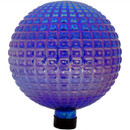 View of Purple Textured Squares Gazing Globe Ball