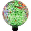 View of the Green Artistic Glass Gazing Ball Globe