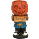 Jack the Scary Pumpkin Halloween Large Statue with Built-In Candy Bowl