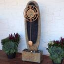 Outdoor Floor Fountain with Clock