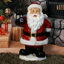 Journeying Santa Claus Indoor Statue with Light Projector