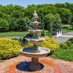 Sunnydaze 4-Tier Grand Courtyard Fountain, 80 Inch Tall, Earth Finish