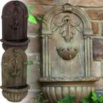 Sunnydaze Florence Solar Garden Outdoor Wall Fountain with Solar Pump and Panel