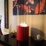 Nu-Flame Doppio Rouge Tabletop Ethanol Indoor Fireplace