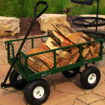 Sunnydaze Heavy Duty Steel Log Cart