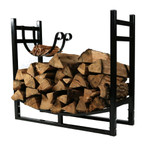 Sunnydaze Indoor/Outdoor Firewood Log Rack with Kindling Holder