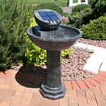 Sunnydaze Modern Solar Birdbath Outdoor Water Fountain, 36 Inches Tall, Includes Solar Pump and Panel