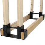 Sunnydaze Steel Firewood Log Rack Bracket Kit - Adjustable to Any Length