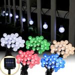 Sunnydaze 30-Count LED Solar Powered Globe String Lights