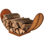 Sunnydaze Rustic Outdoor Firewood Log Rack