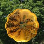 Sunnydaze 3D Sun Wind Spinner with Hook, 12-Inch
