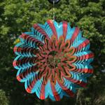 Sunnydaze 3D Multi-Color Sun Wind Spinner with Hook, 12-Inch