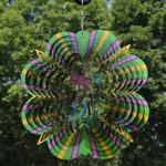 "Sunnydaze 12"" Reflective 3D Whirligig Dragonfly Wind Spinner with Hook"