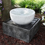 Sunnydaze Tropical Cyclone Outdoor Water Fountain, 14-Inch, Includes Submersible Electric Pump