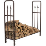 Sunnydaze Bronze Decorative Firewood Log Rack
